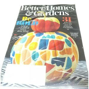 Better Homes & Gardens October 2020 Magazine Fall